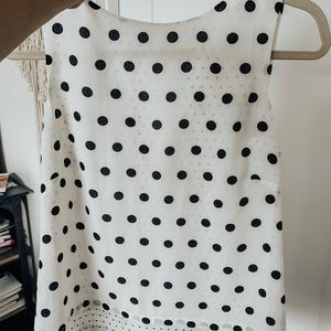 Polka dot business top